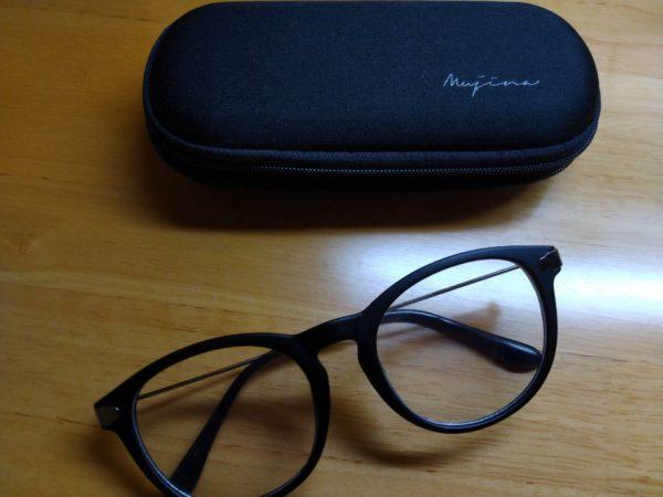 購入したブルーライトカットメガネ